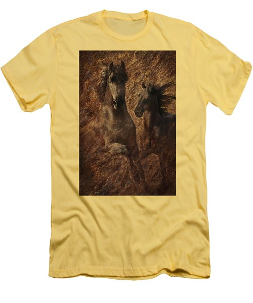 The Spirit Of Black Sterling Men's T-Shirt (Slim Fit) by Melinda Hughes-Berland
