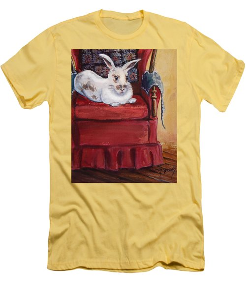 Men's T-Shirt (Slim Fit) featuring the painting This Is My Chair by Joy Nichols