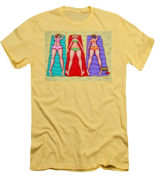 Three Bathing Beauties And Buster Men's T-Shirt (Athletic Fit)