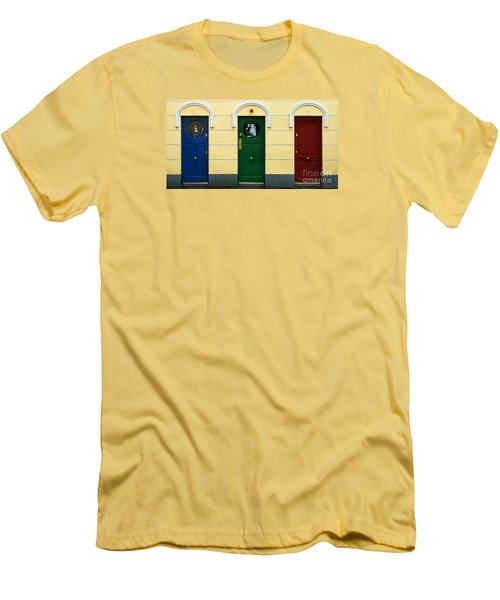Three Doors Men's T-Shirt (Athletic Fit)