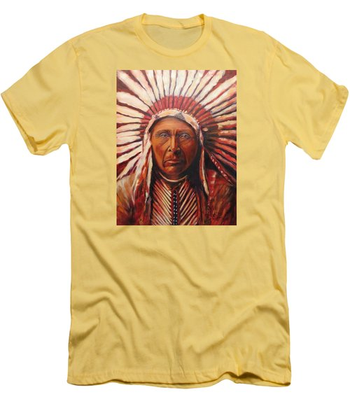 Three Horses, Native American  Men's T-Shirt (Athletic Fit)