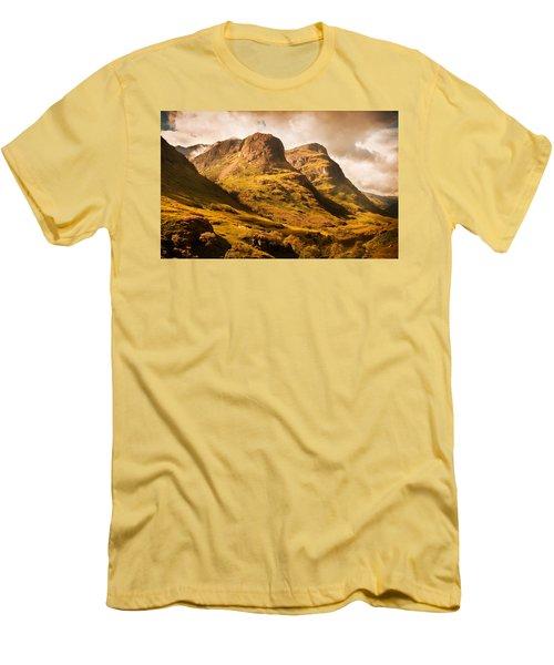 Three Sisters. Glencoe. Scotland Men's T-Shirt (Slim Fit) by Jenny Rainbow