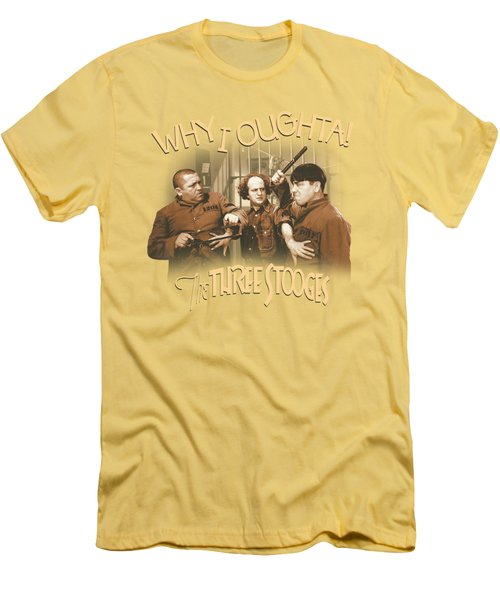 Three Stooges - Why I Oughta Men's T-Shirt (Athletic Fit)
