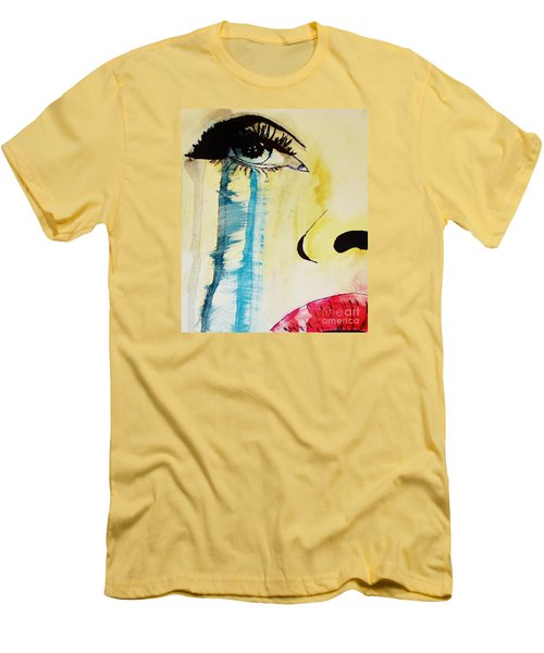Men's T-Shirt (Slim Fit) featuring the painting Tougher Than You Think 2 by Michael Cross