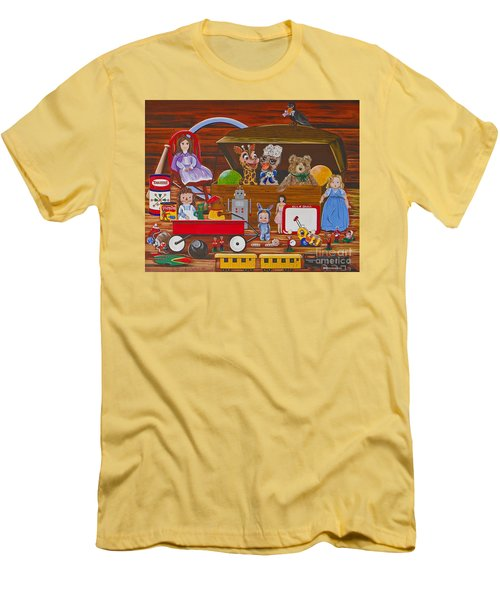 Men's T-Shirt (Slim Fit) featuring the painting Toys In The Attic by Jennifer Lake