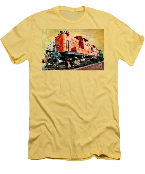 Train - Mkt 142 - Rs3m Emd Repowered Alco Men's T-Shirt (Athletic Fit)