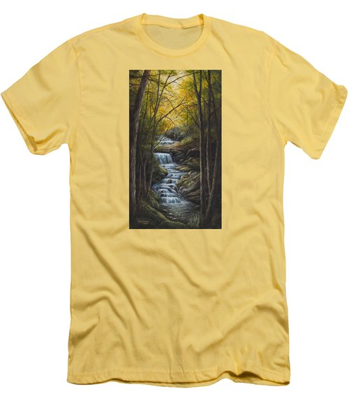Tranquility Men's T-Shirt (Slim Fit) by Kim Lockman