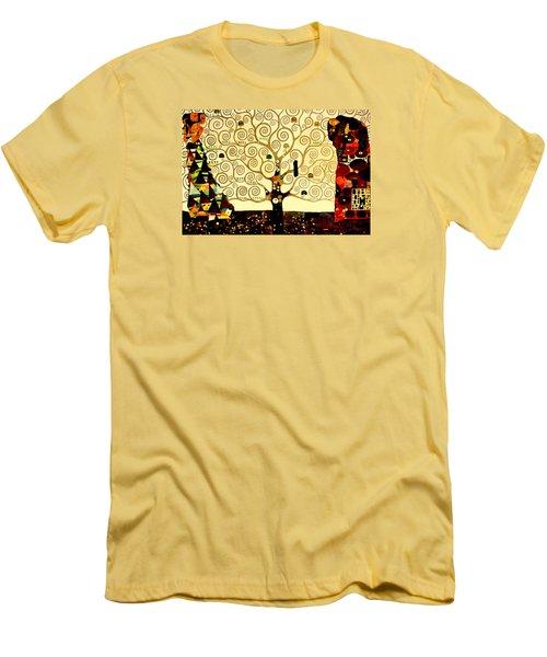 Tree Of Life Men's T-Shirt (Slim Fit) by Henryk Gorecki