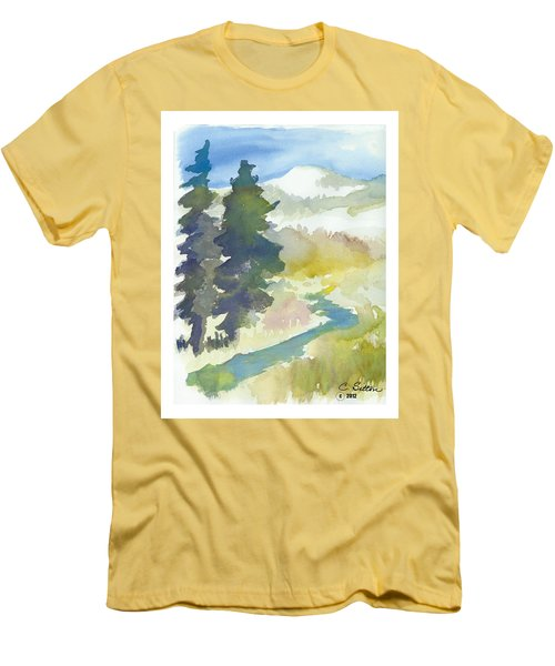 Trees Men's T-Shirt (Slim Fit) by C Sitton