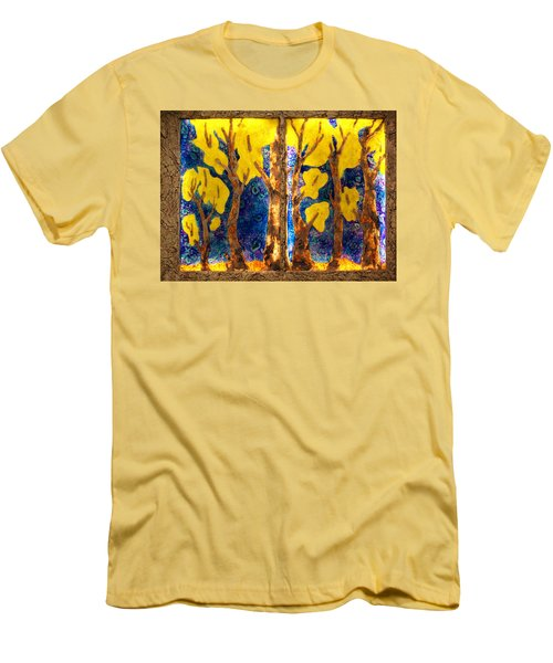 Trees Inside A Window Men's T-Shirt (Athletic Fit)