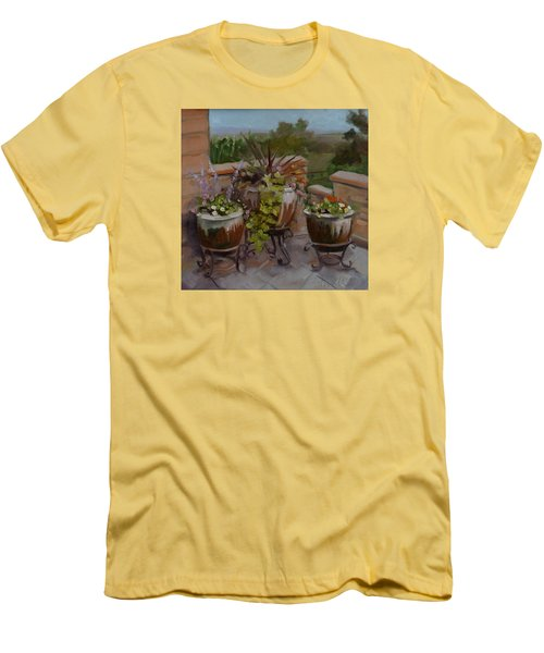 Men's T-Shirt (Slim Fit) featuring the painting Trio by Pattie Wall