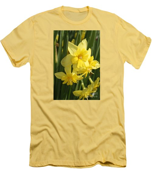 Tripartite Daffodil Men's T-Shirt (Slim Fit) by Judy Whitton