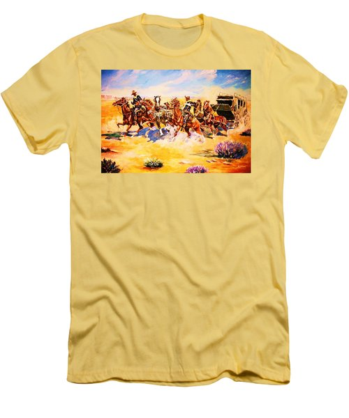 Troopers Stopping A Runaway Coach Men's T-Shirt (Athletic Fit)