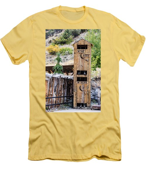 Men's T-Shirt (Athletic Fit) featuring the photograph Two-story Outhouse by Sue Smith