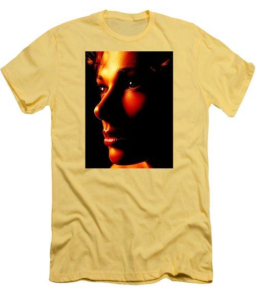 Two Tone Portrait Men's T-Shirt (Slim Fit) by Richard Thomas