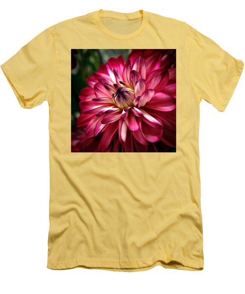 Dahlia Unfolding Men's T-Shirt (Slim Fit) by Athena Mckinzie