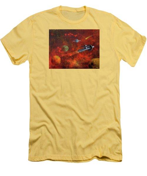 Unidentified Flying Object Men's T-Shirt (Slim Fit) by Randy Burns
