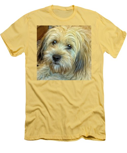 Men's T-Shirt (Slim Fit) featuring the painting Chewy by Michael Pickett