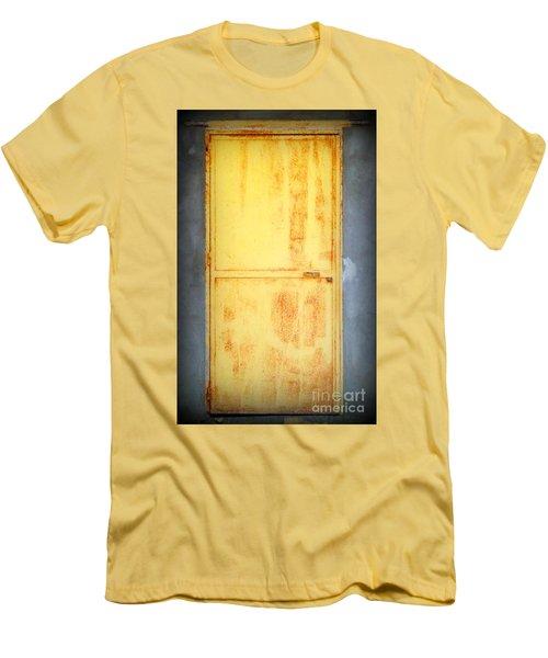 Men's T-Shirt (Slim Fit) featuring the photograph Unused Door by Clare Bevan