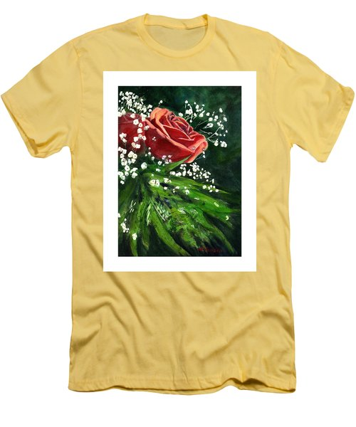 Valentine Rose Men's T-Shirt (Athletic Fit)