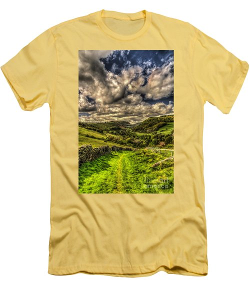 Valley View Men's T-Shirt (Slim Fit) by Steve Purnell