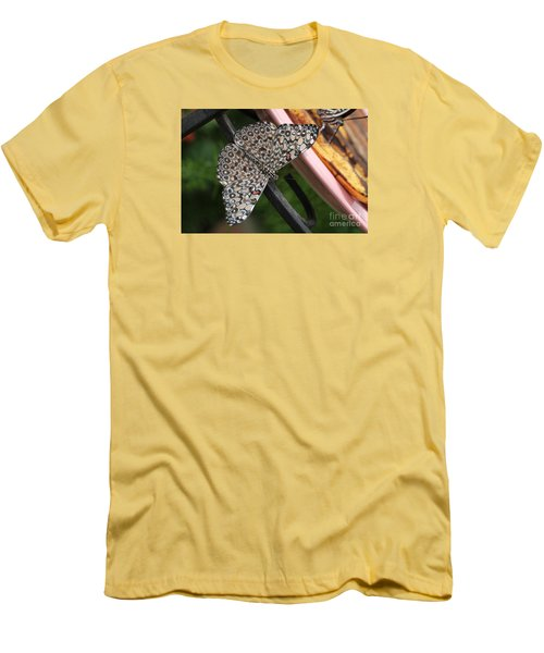 Men's T-Shirt (Slim Fit) featuring the photograph Variable Craker Butterfly #2 by Judy Whitton