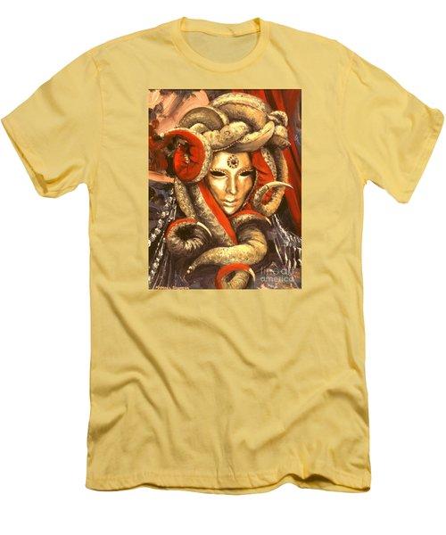 Venetian Mystery Mask Men's T-Shirt (Slim Fit) by Michael Swanson