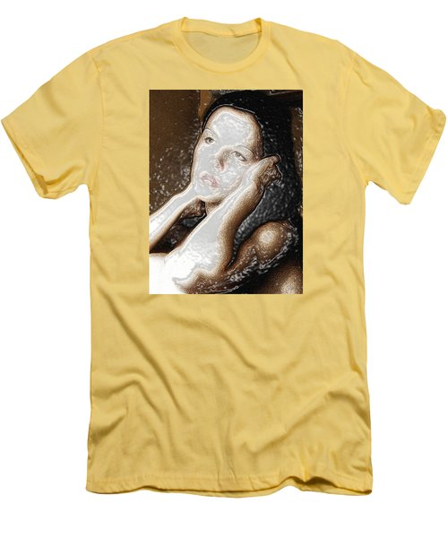 Men's T-Shirt (Slim Fit) featuring the photograph Verity Unmasked by Richard Thomas