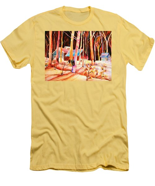 Vermont Maple Syrup Men's T-Shirt (Slim Fit) by Carole Spandau