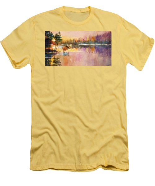 Vigil In The Shallows At Sunrise Men's T-Shirt (Athletic Fit)