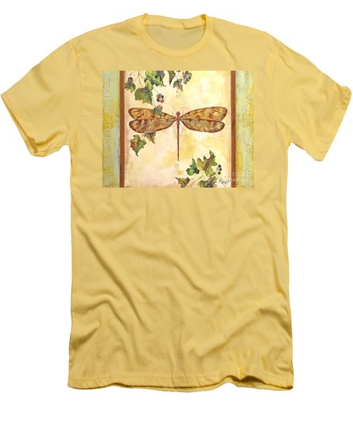 Vineyard Dragonfly Men's T-Shirt (Slim Fit) by Jean Plout