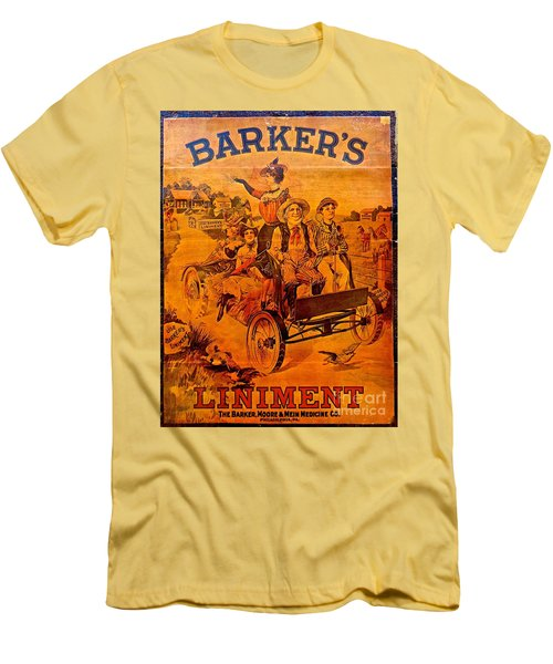 Vintage Ad Barker's Liniment Men's T-Shirt (Slim Fit) by Saundra Myles