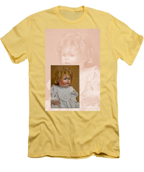 Vintage Doll Beauty Art Prints Men's T-Shirt (Athletic Fit)