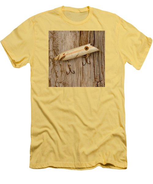 Vintage Fishing Lure Men's T-Shirt (Slim Fit) by Art Block Collections
