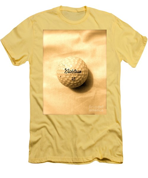 Vintage Golf Ball Men's T-Shirt (Slim Fit) by Anita Lewis