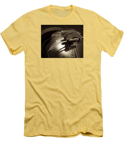 Vintage Hood Ornament - Sepia Art Decoprint Men's T-Shirt (Slim Fit) by Jane Eleanor Nicholas