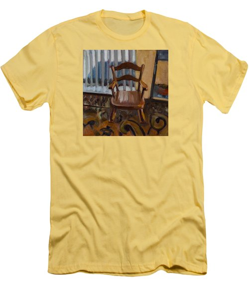Men's T-Shirt (Slim Fit) featuring the painting Vintage Rocker by Pattie Wall