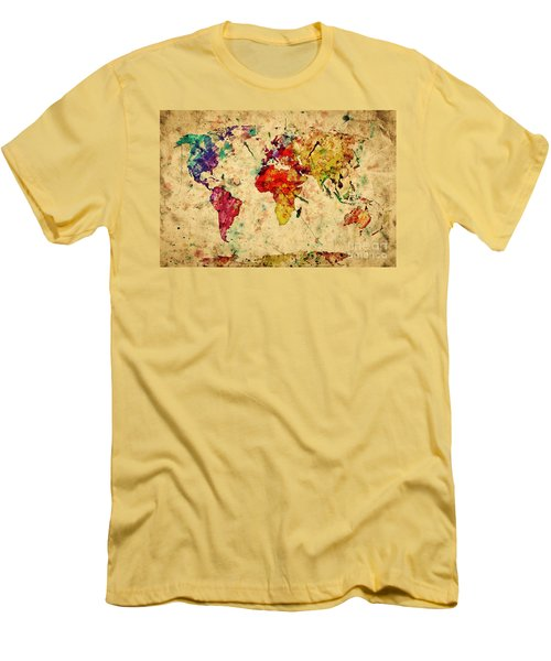 Vintage World Map Men's T-Shirt (Athletic Fit)