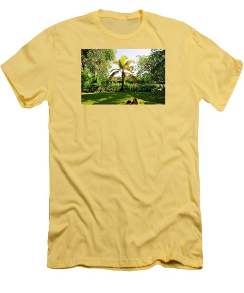Men's T-Shirt (Slim Fit) featuring the photograph Visiting A Mayan Trail by Kicking Bear  Productions