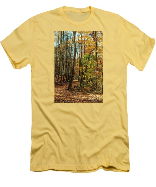Men's T-Shirt (Slim Fit) featuring the photograph Walking The Mountain Trail by Debbie Green