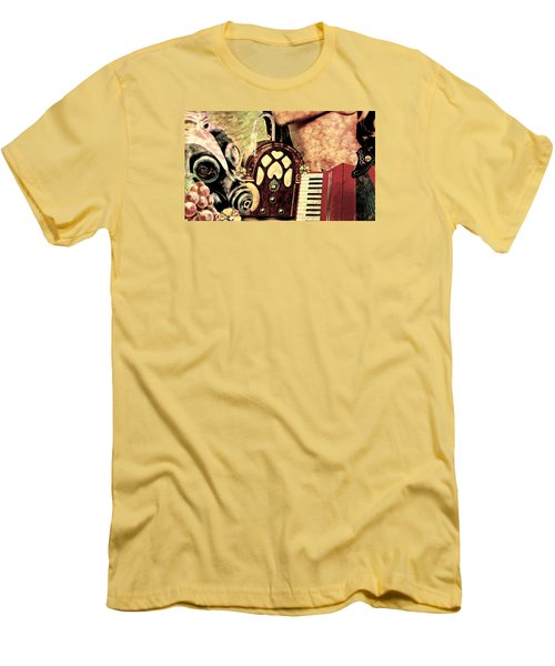 Men's T-Shirt (Slim Fit) featuring the mixed media War Dreams by Ally  White