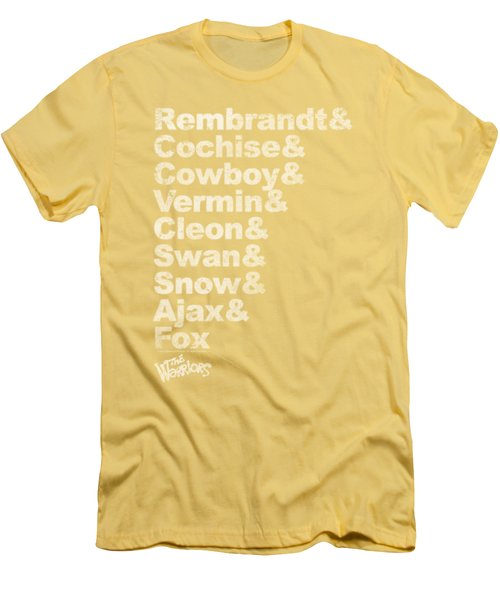 Warriors - Roster Men's T-Shirt (Athletic Fit)