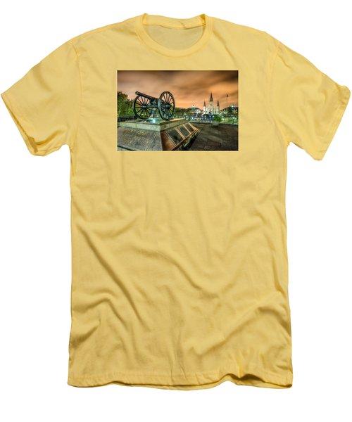 Men's T-Shirt (Slim Fit) featuring the photograph Washington Artillery Park by Tim Stanley
