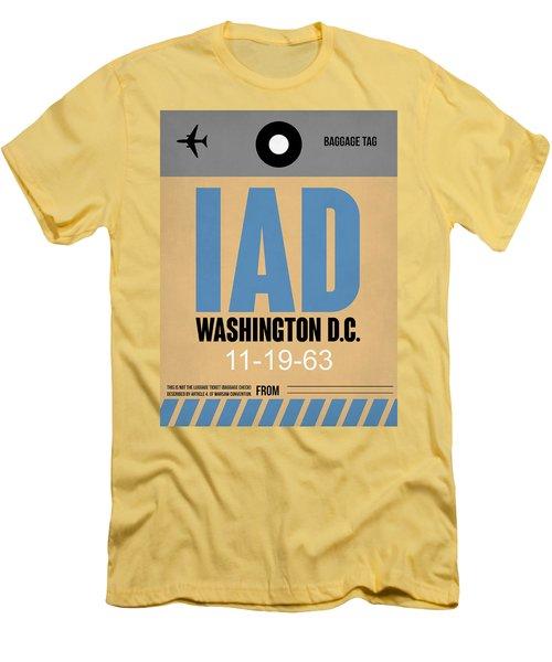 Washington D.c. Airport Poster 3 Men's T-Shirt (Athletic Fit)