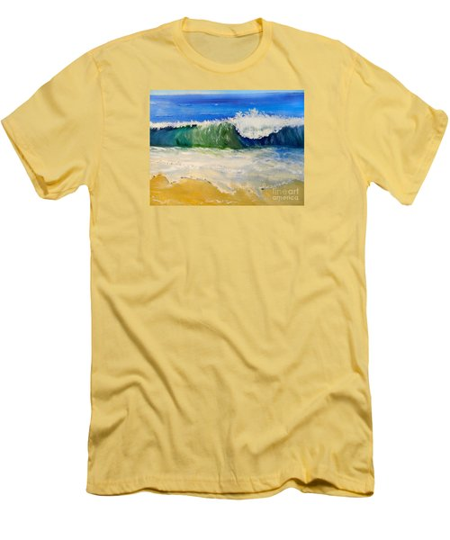 Watching The Wave As Come On The Beach Men's T-Shirt (Athletic Fit)