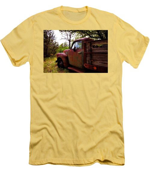 Men's T-Shirt (Slim Fit) featuring the photograph Watermelon Truck by Toni Hopper