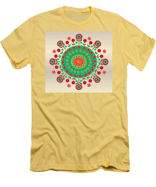 Wayuu Art Garden Men's T-Shirt (Athletic Fit)