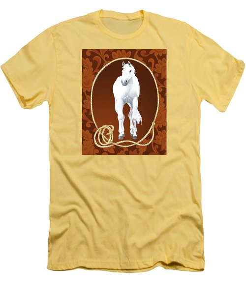 Western Roundup Standing Horse Men's T-Shirt (Athletic Fit)