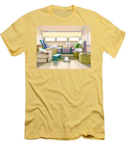 Westie Retreat  Men's T-Shirt (Slim Fit) by Catia Cho