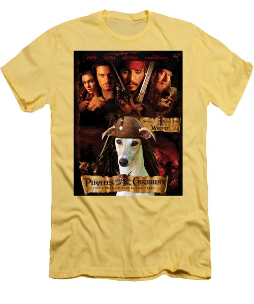 Whippet Art - Pirates Of The Caribbean The Curse Of The Black Pearl Movie Poster Men's T-Shirt (Athletic Fit)